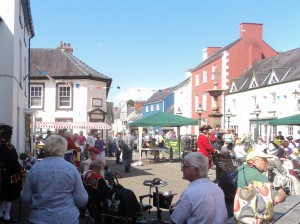 Llandovery Market Sqaure © MerlinCottages 2013
